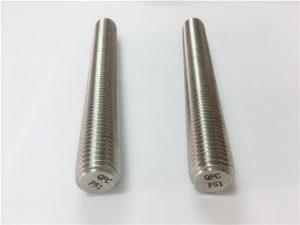 No.77 Duplex 2205 S32205 pengikat keluli tahan karat DIN975 DIN976 berambut rod F51