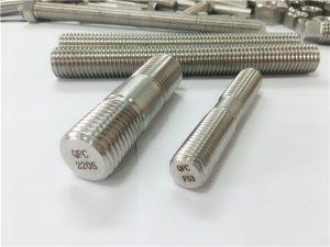 No.80-duplex 2205 S32205 2507 S32750 1.4410 pengikat perkakasan berkualiti tinggi kayu rod utama utama
