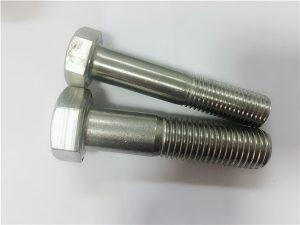 No.90-Cold hot Dipasang hex head bolt a4-80 din931