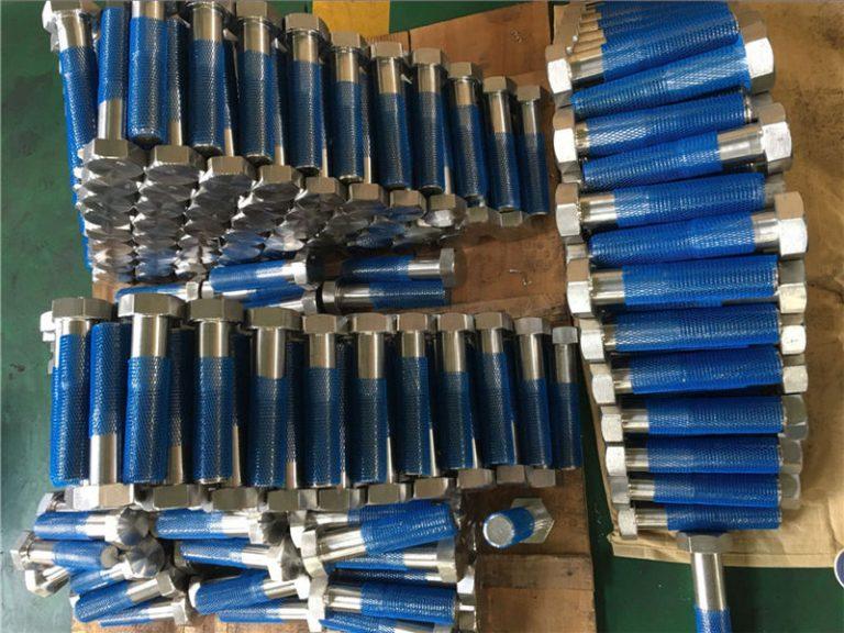 sus 304l en1.4306 ss fastener hex bolts iso4014 half thread