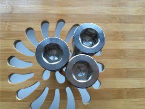 berkualiti tinggi ASEM hex socket titanium gr2 screw / bolt / nut / washer /